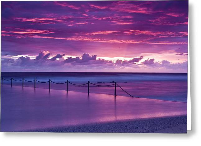 Dawn Fire Greeting Card by I Take Thee Photography