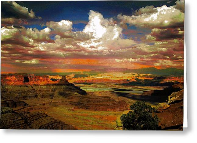 Dead Horse Point Canyon Greeting Card