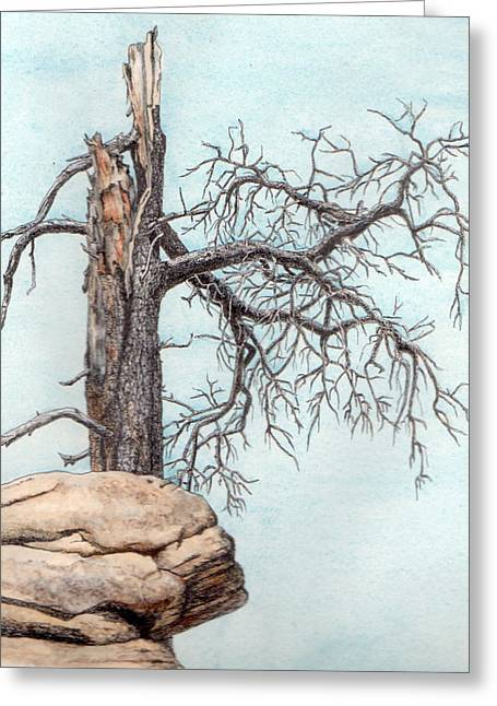 Dead Tree Greeting Card by Inger Hutton
