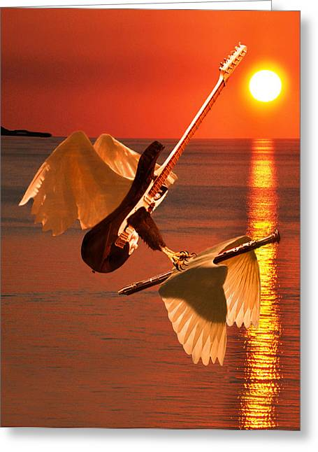 Death Of A Flute Greeting Card by Eric Kempson