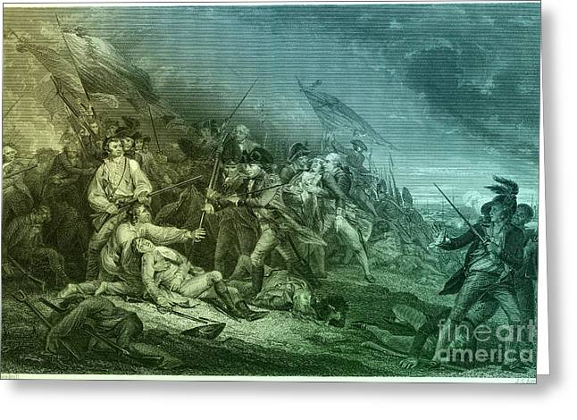 Death Of General Warren, 1775 Greeting Card by Photo Researchers