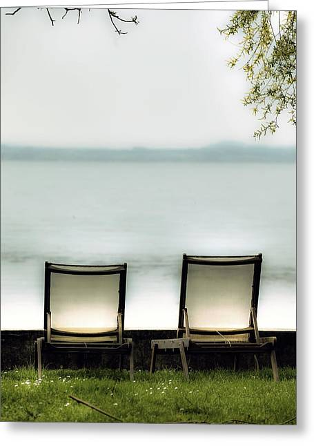 Deck Chairs Greeting Card by Joana Kruse
