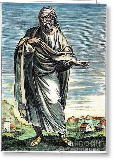 Democritus (c460-c370 B.c.) Greeting Card by Granger
