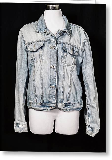 Denim Jacket Greeting Card by Joana Kruse