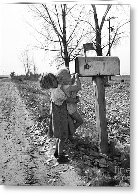 Depression Era Rural America Greeting Card by Photo Researchers