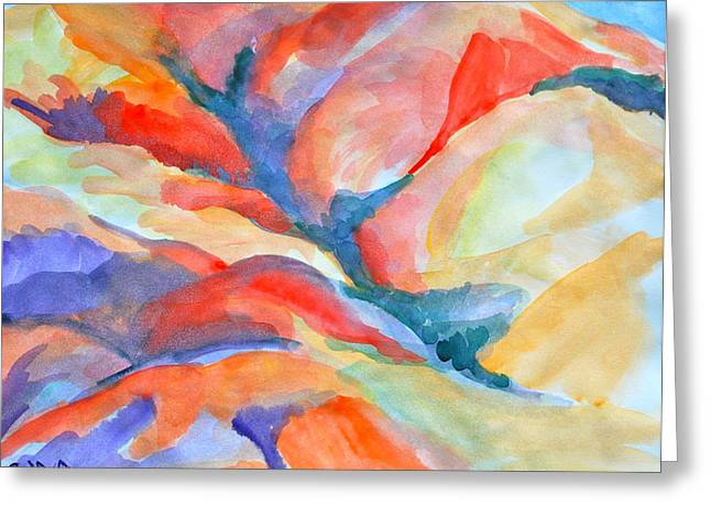 Desert Landscape Greeting Card by Rufus Norman