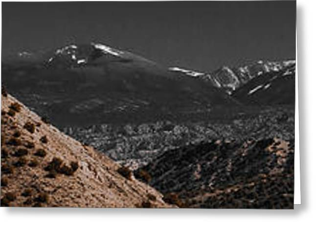 Greeting Card featuring the photograph Desert Snow by Atom Crawford