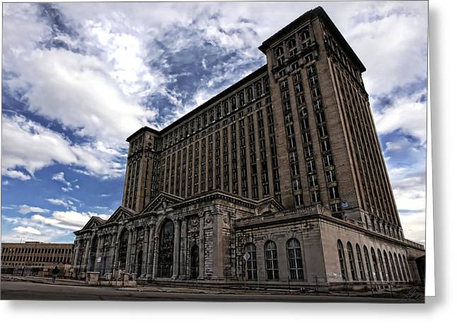 Detroit's Abandoned Michigan Central Station Greeting Card