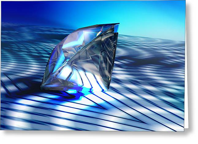 Diamond, Computer Artwork Greeting Card by Pasieka