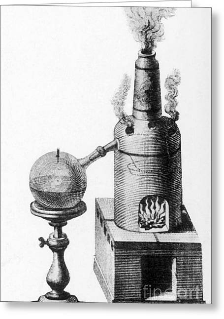 Distillation, Alembic, 18th Century Greeting Card