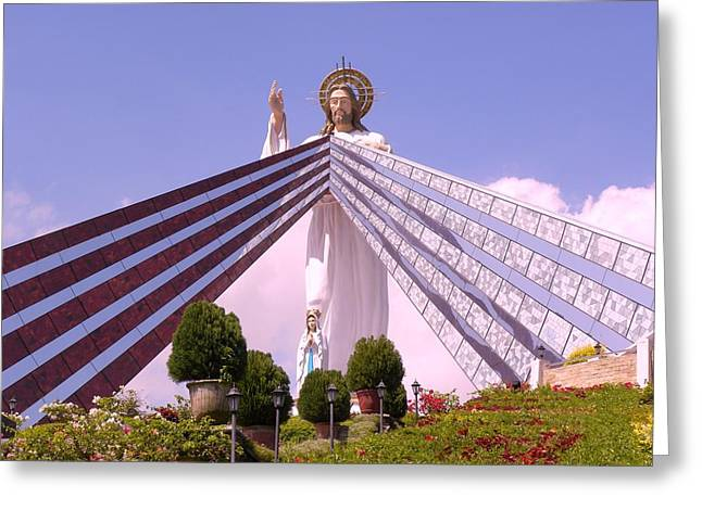 Divine Mercy Greeting Card by Anna Baker