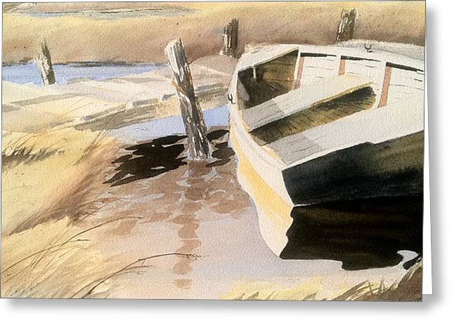 Docs Old Rowboat Greeting Card by Don F  Bradford