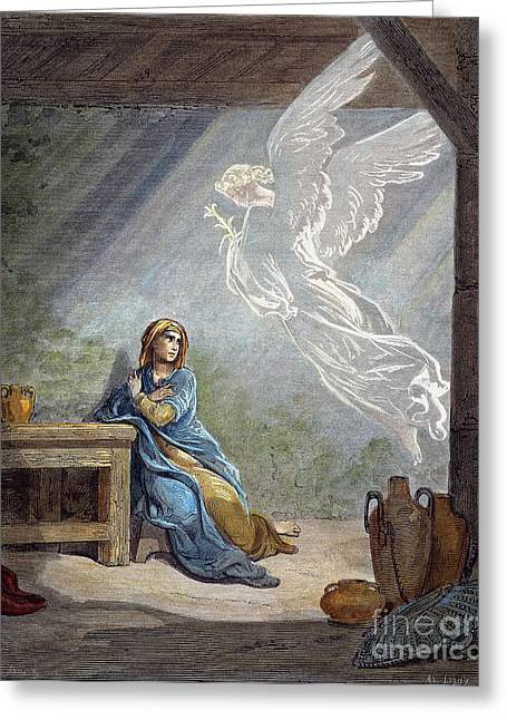 Dor�: The Annunciation Greeting Card by Granger