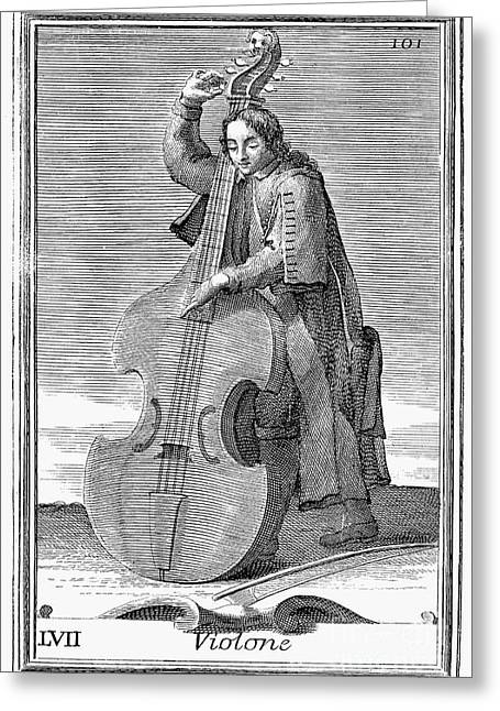 Double-bass Viol, 1723 Greeting Card