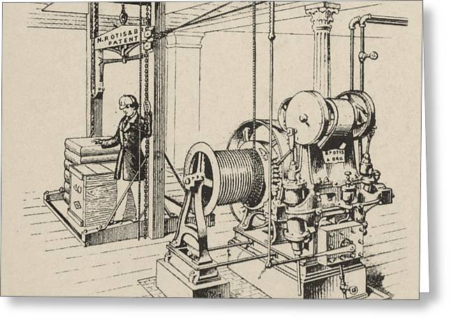 Double Oscillating Steam Engine Greeting Card
