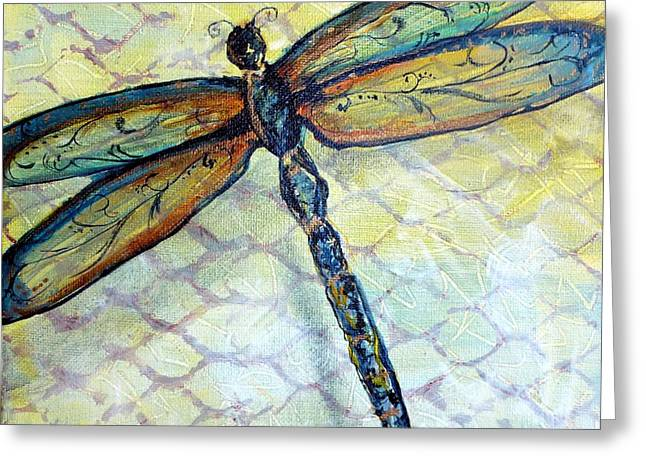 Dragonfly Dancer Greeting Card