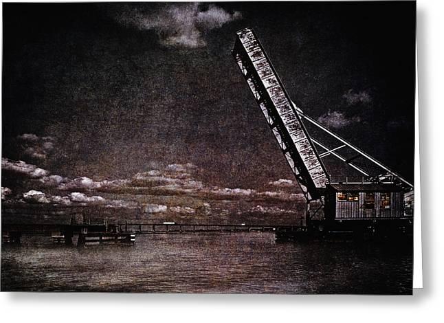 Drawbridge At Night Greeting Card by Skip Nall