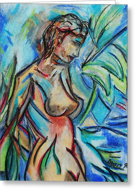 Imagination Pastels Greeting Cards - Dream Girl 98 Greeting Card by Bradley
