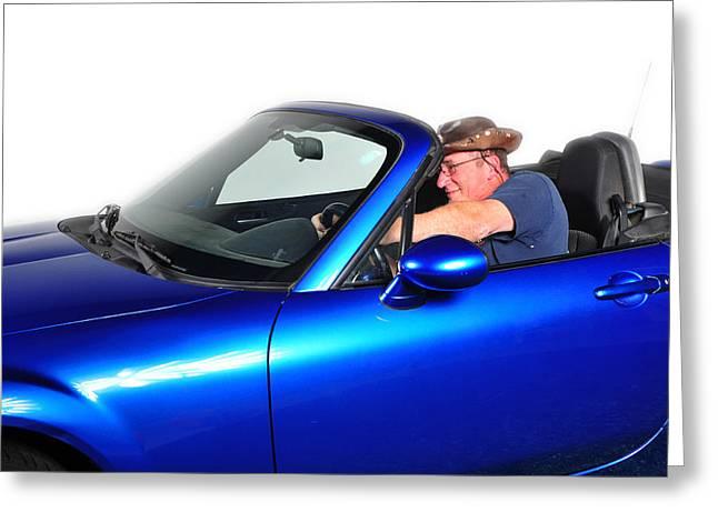 Drive My Car Greeting Card by Jim Boardman