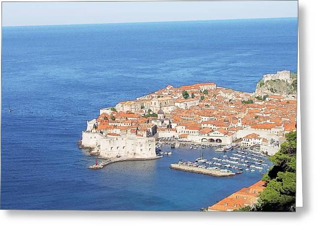 Dubrovnik Former Yugoslavia Croatia Greeting Card