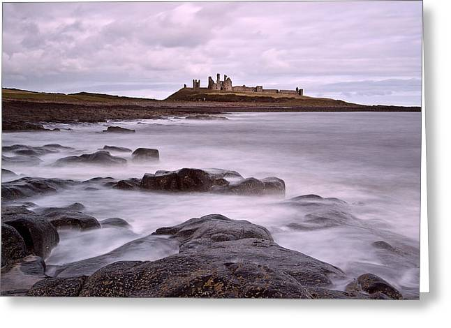 Dunstanburgh Castle Greeting Card by David Pringle