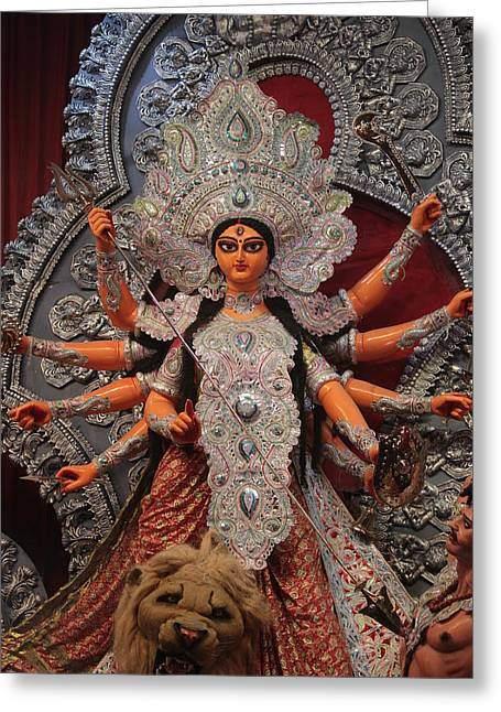 Durga Goddess 2012 Greeting Card by Rajan Advani