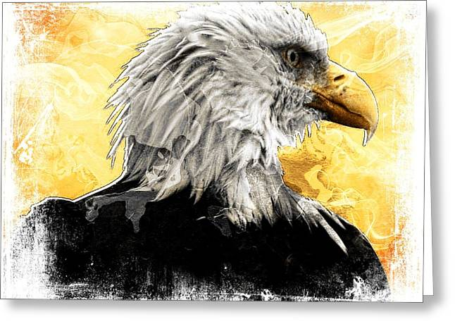 Eagle 6 Greeting Card by Carrie OBrien Sibley