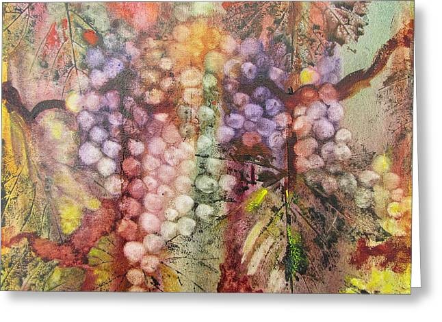 Greeting Card featuring the painting Early Harvest by Karen Fleschler