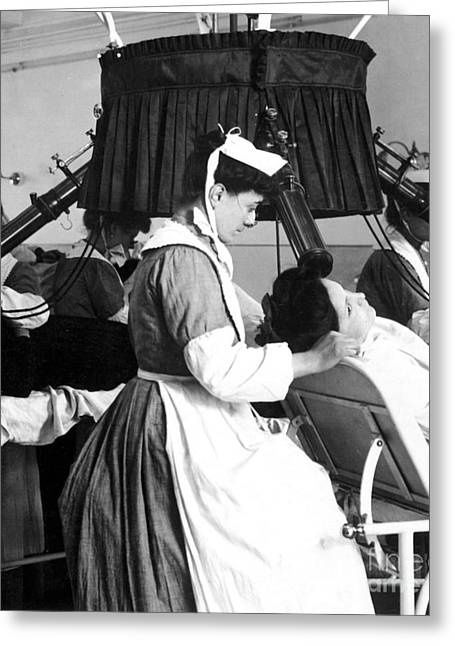 Early X-ray Machine Greeting Card