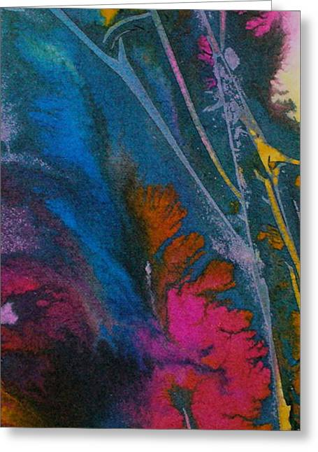 Greeting Card featuring the painting Earth Spirit by Mary Sullivan