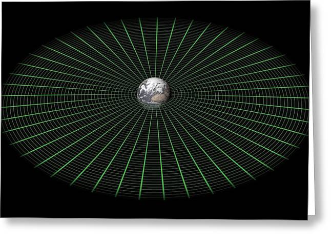 Earth's Gravity Well, Artwork Greeting Card