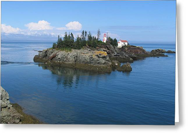East Quoddy Lighthouse Greeting Card by Bob Davis