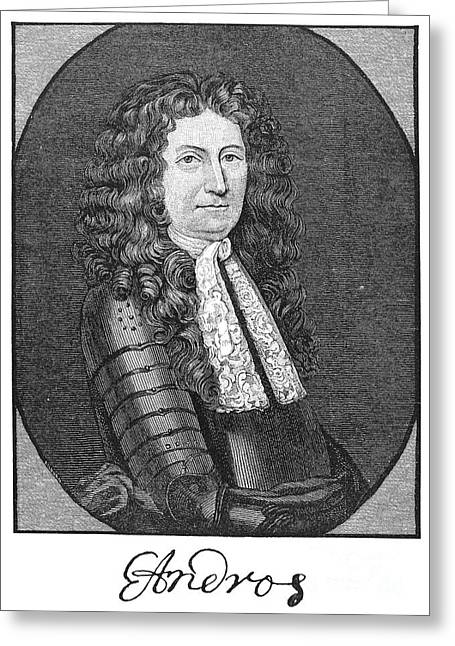 Edmund Andros (1637-1714) Greeting Card by Granger