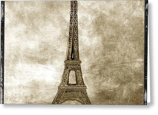 Eiffel Tower. Paris Greeting Card by Bernard Jaubert