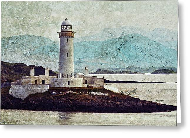 Eilean Musdile Lighthouse  Greeting Card by Ray Devlin