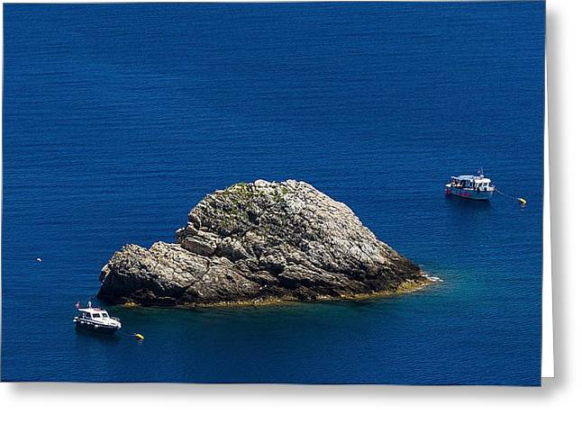 Greeting Card featuring the photograph Elba Island - One Island Two Boats - Ph Enrico Pelos by Enrico Pelos