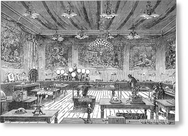 Electrical Exposition, 1881 Greeting Card