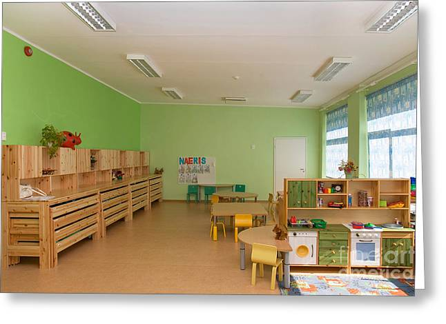 Empty Estonian Elementary Grade School Greeting Card by Jaak Nilson