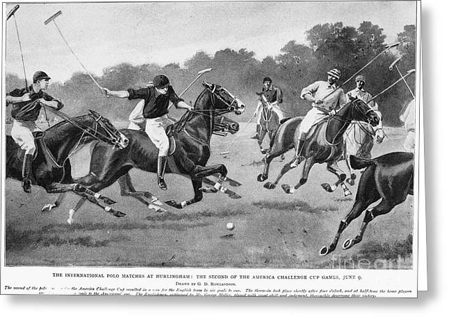 England: Polo, 1902 Greeting Card by Granger