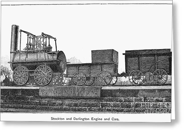English Locomotive, 1825 Greeting Card