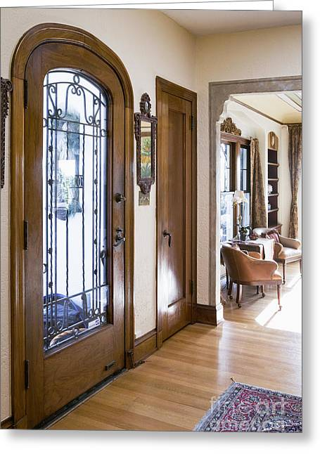 Entryway Of Home Greeting Card by Andersen Ross