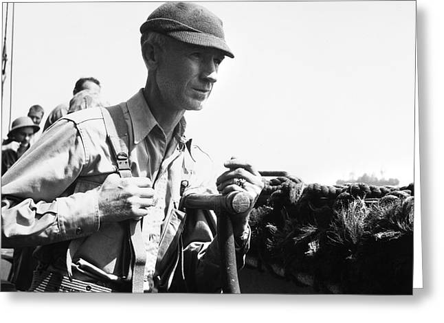 Ernie Pyle (1900-1945). American Journalist. Photograph, C1942 Greeting Card by Granger