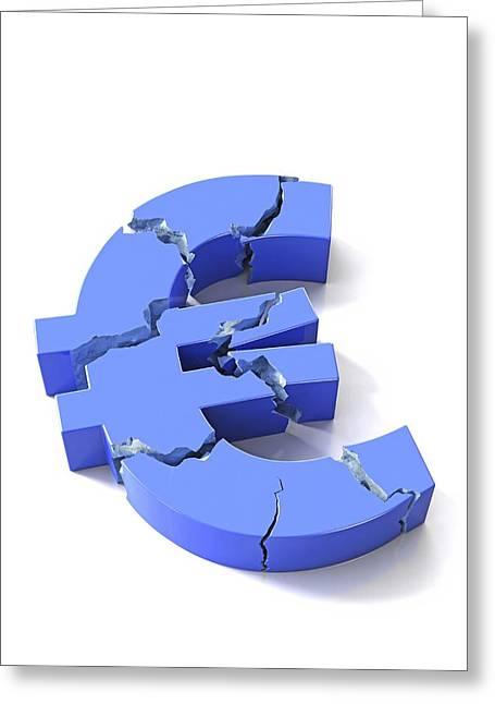 Euro Crisis, Conceptual Artwork Greeting Card