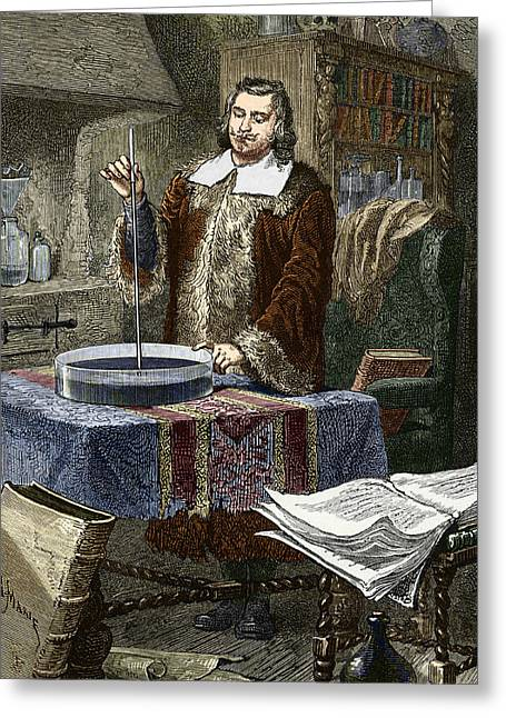 Evangelista Torricelli, Italian Physicist Greeting Card by Sheila Terry