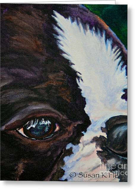 Eye On You Greeting Card by Susan Herber