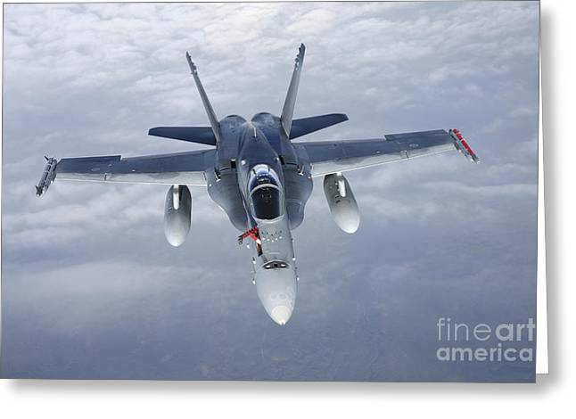 Fa-18 Hornet Of The Finnish Air Force Greeting Card by Daniel Karlsson