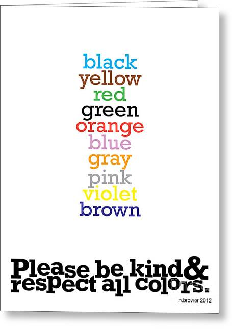 The Stroop Effect Of Art. Greeting Card