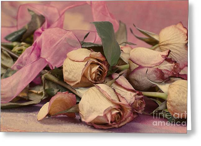 Faded Roses Greeting Card by Noel Zia Lee