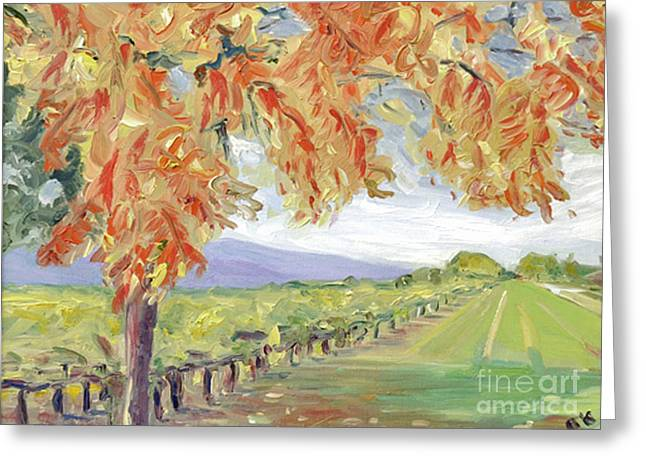 Fall In Napa Valley Greeting Card