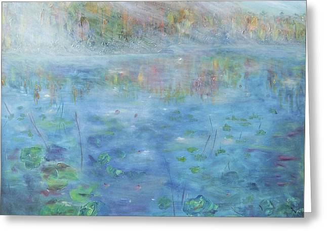 Fall On The Lake Greeting Card by Barbara Anna Knauf